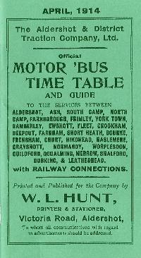 April 1914 Time Table