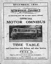 December 1930 Time Table