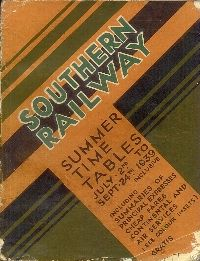 Southern Railway Timetable - Summer 1939