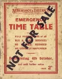 War Emergency Time-Table