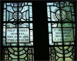 Henriques Memorial window