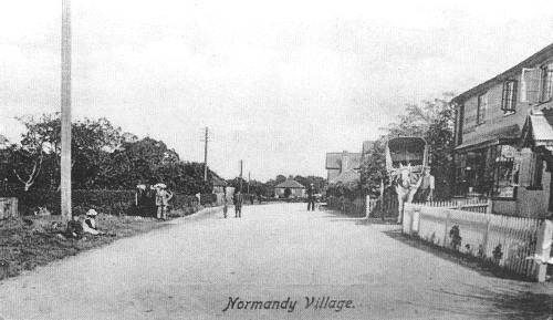 The Road at Normandy Village c1910