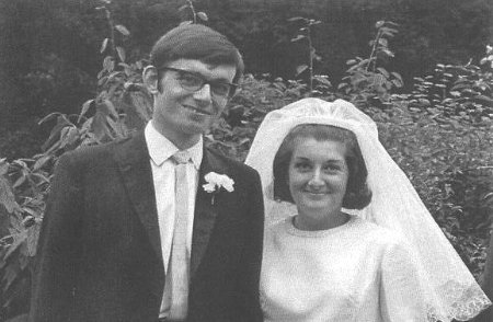 Trevor and Christine on their wedding day 1969
