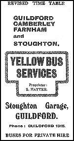 Yellow Bus Services Time-Table 1948